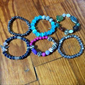 Bundle of 6 Stretch Bracelets